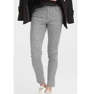 Banana republic sloan slim ankle houndstooth pants